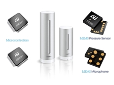 ST Microelectronics components used in Netatmo Weather Station
