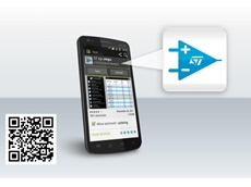 The new android app  for mobile devices including smart phones and tablets from ST Microelectronics