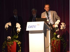 Benedetto Vigna at the award ceremony in Grenoble