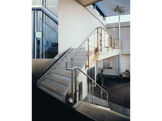 Safemaster stainless steel handrailing system with glass infill