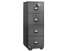 Locktech fire resistant filing cabinet