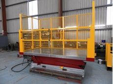 The Safetech ASD2-3500 double scissor hydraulic lift has a high load capacity of 2,000 kg