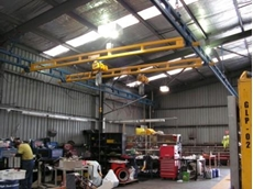 Gorbel workstation cranes installed at Union Hydraulics