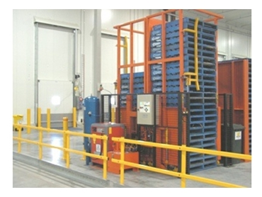 Store and retrieve empty pallets easily with Safetech Pallet Dispensers