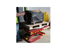A Safetech scissor lift, fitted with hydraulic loading platform has proved a safe packing and unpacking solution for Total Fasteners