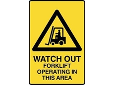 Caution Sign with message
