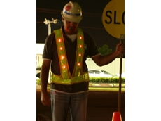 LED night safety vests