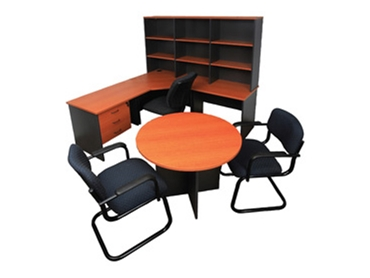 Office workstations, chairs, desks