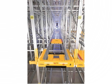 No need for a specialty forklift as there is no requirement to enter the rack