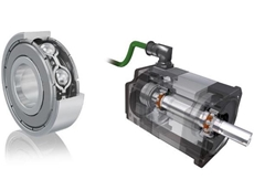 A FAG Generation C deep groove ball bearing, left and electric motor, right