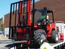Schaffer Loaders' articulated forklift