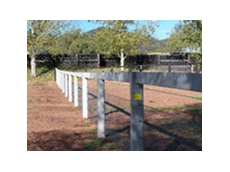 Installed prestressed concrete post and rail fences
