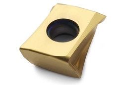 Example of an insert designed for steel milling