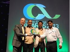 (L-R) Sam Peli (Manager Breezair ROE/India, Seeley International), Binod Pillai (Climagulf), Sabu Abrahma (Climagulf), Syed Khalemulla (Climagulf)