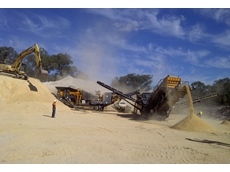 Ian Colley Earthmoving Services' Tesab 10570 Jaw Crusher and 2600 Screen in action