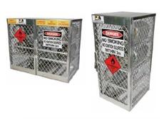 Seton aluminium cylinder storage lockers