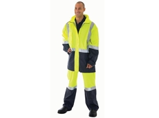 Hi-Vis lightweight breathable rain coats