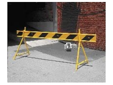 Directs traffic away from areas such as work sites, pedestrian-only access roads and hazardous situations.