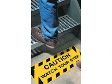 Safety stair markings are available in a range of messages
