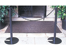 Stanchion and chain systems are stylish and economical
