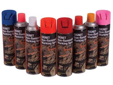 Non-flammable marking sprays