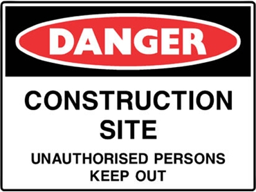 Economical danger signs for increased workplace safety
