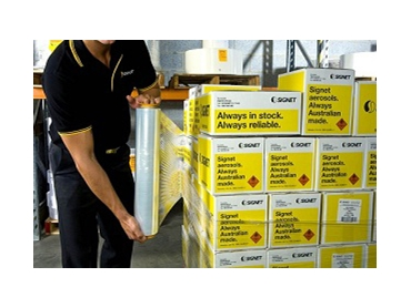 Secure pallets during transit and storage