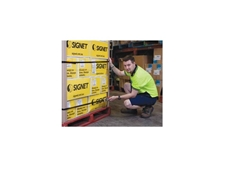 Signet's Own Strapping Tape is a quick and easy method of palletising and bundling products