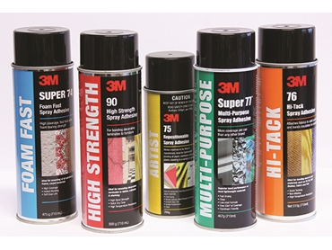 Signet's range of 3M Spray Adhesives