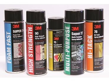 Signet's range of 3M Spray Adhesives