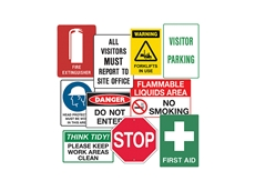 Signet's signage solutions for all your warehouse or construction site needs