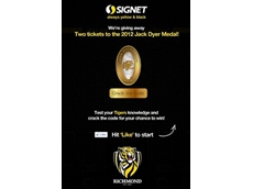 Signet to reward customers with tickets to the 2012 Jack Dyer Medal night