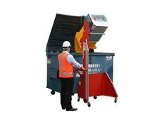 Multi-tip powered wheelie bin tipper