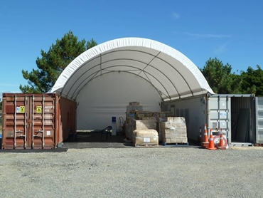 Shelters and sheds for industrial applications