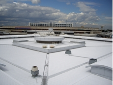SkyCool's reflective roof coating for metal roofs