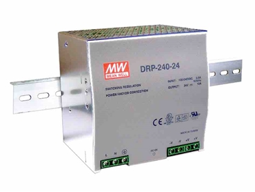 400289 Meanwell 240W DIN Rail Mount Switchmode Power Supply W 24VDC 10A