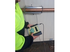 Modern ultrasonic flow meters connect to the outside of the pipe