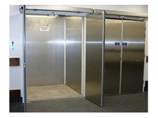 The goods hoists provided by Southwell feature stainless steel internal car walls, and double swing fire rated doors