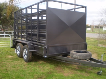 Box Trailers With Stock Crates and Portable Yards from Southwest Trailers