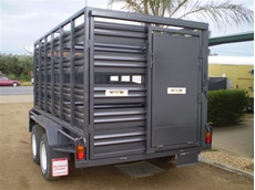Box trailers with stock crates from Southwest Trailers