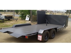 Combined Car and Mower Trailers from Southwest Trailers