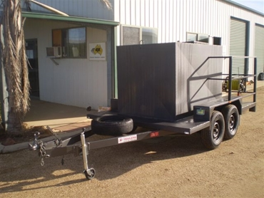 Fire Trailers with Pump , Reel, Hoses and 1500LT Tank from Southwest Trailers