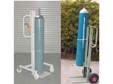 Gas cylinder lift cradle
