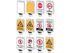 Info-Boards portable sign systems are available with 15 standard messages
