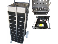 Laptop storage trolley