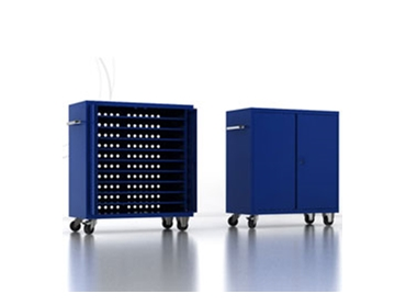 Media storage trolleys