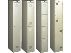 Multi-tier steel lockers