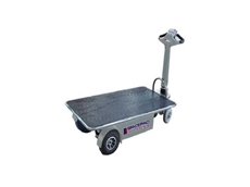 Spacepac Mule-350 battery electric powered flatbed trolley