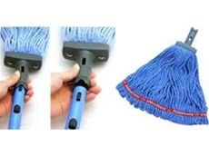 Easy detachable quick connect handle and loop ends wet mop