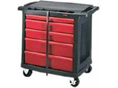 Rubbermaid multiple drawers trade cart